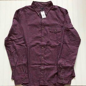 J. CREW Button Down Long Sleeve Flannel Shirt!  XL